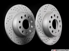 UM|Front /& Rear Drilled Slotted Brake Rotor For VOLKSWAGEN RABBIT 06-09