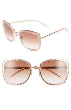 kate spade new york 'scottie' glitter sunglasses