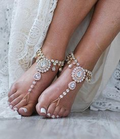 Starla Barefoot Sandals Beach Wedding Jewelry Foot Jewelry
