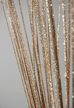 "Straight 44"" Gold Ting Ting Champagne Glitter Branches   (natural)    $3.99 bundle / 6 bundles $3 each"