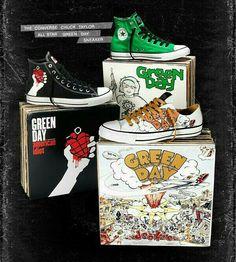 fcbd0317b790 The converse chuck Taylor all star green day sneakers
