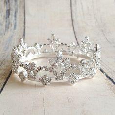 Princess crown. Newborn photo prop crown. Small rhinestone crown. Photo prop tiara. Baby crown on Etsy, $20.00