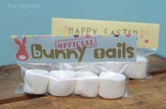 Bunny Tails Easter Baggie Topper by TheMombot on Etsy, $5.00