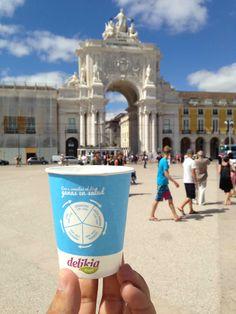 el #vasoviajero en Plaça Do Comercio #Lisboa