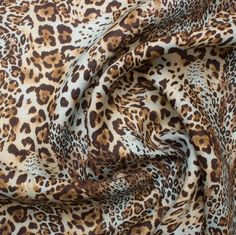 Brown & Blue Animal Printed Linen