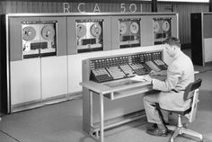 Bankers Life and Casualty Company's first computer, the massive RCA 501, installed in 1960!