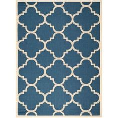 Safavieh Courtyard Navy/Beige 8 ft. x 11 ft. Area Rug - CY6243-268-8 at The Home Depot