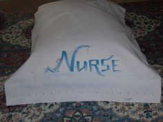 Napping Nurse on a White Pillowcase Nurses will grab by AnneGramm, $20.00
