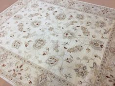 8-X-10-Beige-Brown-Ziegler-Persian-Oriental-Area-Rug-Hand-Knotted-All-Over-Wool