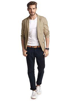 Esprit - lichte katoenen blazer kopen in de online shop Business Outfit, Men's Clothing, Shops, Husband, Denim, Closet, Outfits, Shopping, Fashion Styles