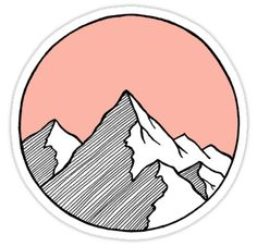 """Mountains Sketch"" Stickers by smalltownnc 