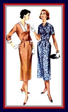 Vintage 1957 Classy Lady Dress Sewing by FarfallaDesignStudio, $16.00