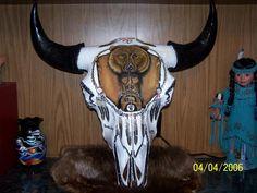 Painted Buffalo Skull Harlan Dillon
