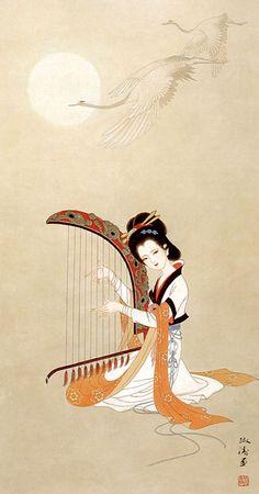 by Yang ShuTao 杨淑涛工笔仕女画, Chinese Painting, Japanese Painting, Chinese Painting, Art Chinois, Geisha Art, Art Asiatique, Art Japonais, China Art, Traditional Paintings, Japanese Prints
