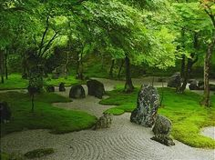 The garden of Komyozenji in Dazaifu.