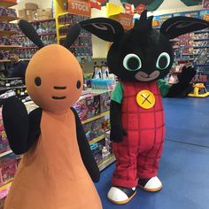 Bing and Flop may be some of the most adorable characters who have ever visited our stores! Anyone for a cuddle?! #Bing #Flop #cbeebies #mattel #toys #toystagram #adorable