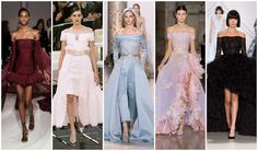 Beautifully Fierce!: Spring 2017 Haute Couture Trends Off the shoulder necklines #couture #fashion #trend