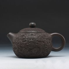 Chinese Yixing zisha teapot dragon have nine sons handmade teapot