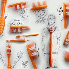 "Da série ""cotidiano""  #cotidiano #toothbrush #ideas #drawing #desenhos #photooftheday picoftheday"