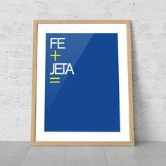 Getafe - Word game with the word Faith (FE) and Guts (jeta) Juego de palabras con la palabra Fé y Jeta