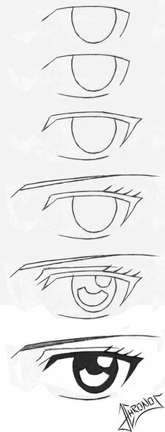 Ideas Drawing People Sketches Eye Tutorial For 2019 Eye Pencil Drawing, Realistic Eye Drawing, Pencil Art Drawings, Art Drawings Sketches, Manga Drawing, Easy Drawings, Drawings Of Eyes, Manga Art, Contour Drawing