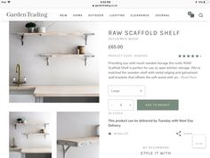 Open Kitchen, Wooden Shelves, Kitchen Storage, Be Perfect, Outdoor Lighting, New Homes, Rustic, Diy Wood Shelves, Country Primitive