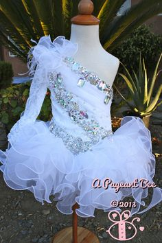 Beautiful Pageant glitz cupcake pageant dress toddler or girl on Etsy, $119.99