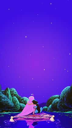 Aladdin and Jasmine (Wallpaper) - Disney -