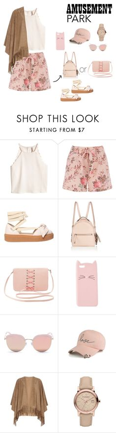 """Soft pink vibes"" by gglady99 ❤ liked on Polyvore featuring Puma, Fendi, Charlotte Russe, Stephane + Christian, mel, Burberry, amusementpark and 60secondstyle"