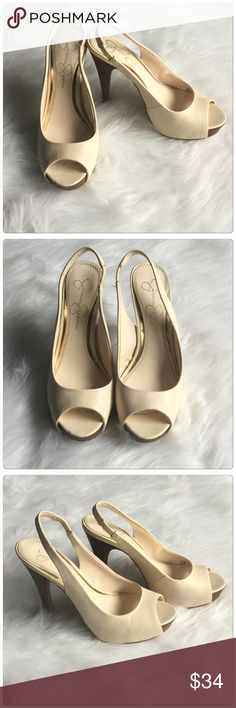 Gorgeous Nude colors hight heels shoes  Gorgeous high heels with nude color, 4 inches high, will look good on any outfit. Wear a few times.                                                                                                                                                                           ✅Price is firm unless bundle                                                                                                                             ❌NO TRADES. ❌NO LOWBALL OFFERS…