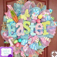 Jessica Henderson custom order for three wreaths by MeshMebyAng Wreath Crafts, Diy Wreath, Wreath Ideas, Tutu Wreath, Holiday Wreaths, Holiday Crafts, Easter Wreaths Diy, Spring Wreaths, Deco Mesh Wreaths