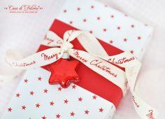 weihnachtliche Verpackung in rot-weiss I Geschenkverpackung I hübsch verpackt I packaging I gift wrap I Casa di Falcone