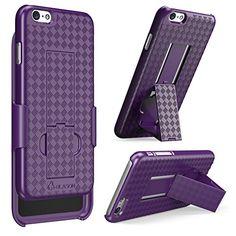 iPhone 6 Plus Case, i-Blason® [Transformer] iPhone 6 Plus (5.5) Case Slim Holster **Kickstand** [Holster Combo] Matte finish with Apple Logo Cutout - Slim Case for iPhone 6 Plus 5.5 inch (Purple) i-Blason http://www.amazon.com/dp/B00M086WPW/ref=cm_sw_r_pi_dp_F4dgub10QDKAJ