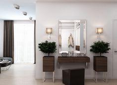 Két kisebb lakásból egy nagyobb otthon, elegáns, modern stílusban, szép fa felületekkel, színekkel