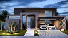 Modern house exterior, Architecture house, Contemporary house exterior, Modern architecture house, H Modern House Facades, Modern Architecture House, Modern House Plans, Minimalist House Design, Modern House Design, House Contemporary, Home Building Design, House Front Design, Luxury Homes Dream Houses