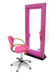 Retro Hair Salon Vanity Set. Would be awesome to have in a dressing room! | Imagine this frame in fluffy pink! | Girly things |