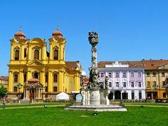 The square in Timisoara, Romania