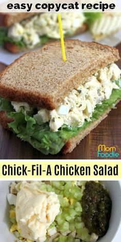 Chick-Fil-a Chicken Salad Recipe: Make Your Own Copycat Sandwiches! Chick-Fil-a Chicken Salad Recipe: Make Your Own Copycat Sandwiches! Chick Fil A Chicken Salad Recipe copycat<br> Chick Fil A Chicken Salad Recipe, Chicken Salad Recipes, Healthy Salad Recipes, Chicken Salad Recipe Easy Healthy, Chicken Egg Salad, Rotisserie Chicken Salad, Chicken Salad Recipe With Eggs And Pickles, Chick Fil A Wrap Recipe, Healthy Food