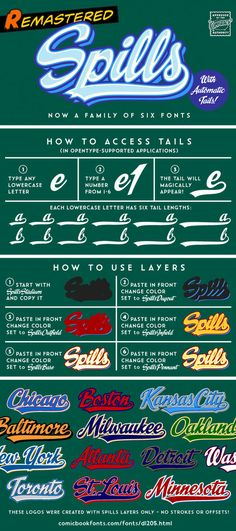 Here's how to create your own baseball team-style logo with our new SPILLS font! Print Design, Web Design, Design Art, The Outfield, Beautiful Fonts, Handwriting Fonts, E Type, Calligraphy Fonts, Lower Case Letters