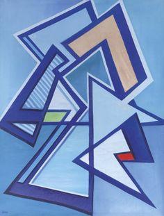 Mario Radice - Como 1900 - 1987 - Composizione T.R.3, 1971 - Olio su tela, cm. 60,2x45,5