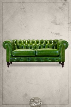 Higgins Chesterfield sofa in a lovely bottle green