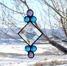 Stained Glass Suncatcher - Beveled Glass with Gems. Starting at $10 on Tophatter.com!