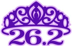 26.2 Purple Tiara Temporary Tattoo