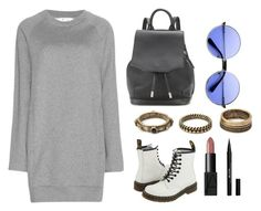 """""""Grey dress"""" by hedvigaarts on Polyvore featuring Acne Studios, Dr. Martens, Forever 21, rag & bone, INDIE HAIR, NARS Cosmetics and Stila"""