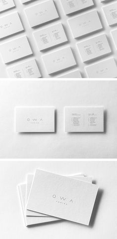 OWA Yurika - The Denizen Co.   Print design for OWA Yurika, a boutique children's clothing brand based in London founded by designer Yuki Scott. Together, we created branded letterpress business cards to prepare for her web launch.