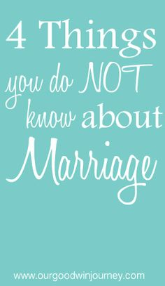 What are some things that you did not know before #marriage? Do any of these 4 things ring true for you? #happywivesclub #marriagetips