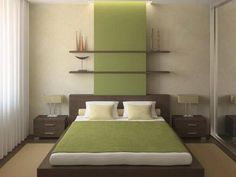 Like the shelving above the bed. stacked above eachother for symmetry
