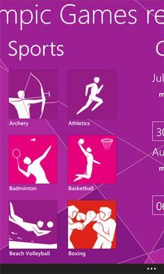 Windows phone apps for the London Olympics