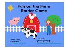 Carrie's Speech Corner:  Free printable Farm themed barrier game
