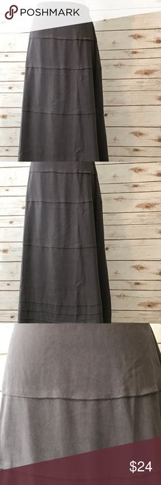 Tiered faux suede skirt. Denim & Co. Size S Tiered faux suede skirt from Denim & Co. (QVC) Size S. Machine washable! Elastic waistband in back. Worn once. Perfect for Fall! Denim & Co Skirts Maxi